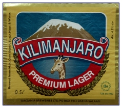 Bier-Label Kilimanjarpo-Lager